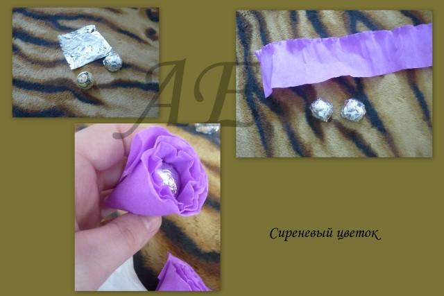 Букет из конфет в корзинке своими руками